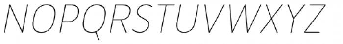 Merlo Round Thin Italic Font UPPERCASE