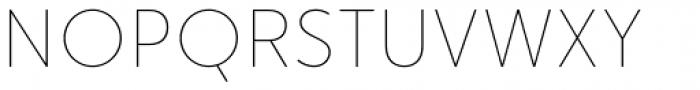Merlo Round Thin Font UPPERCASE