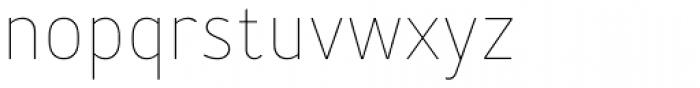 Merlo Thin Font LOWERCASE