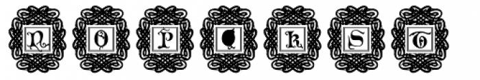 Merona Frame Font LOWERCASE