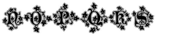 Merona Lined Font LOWERCASE