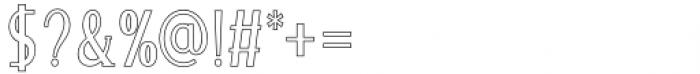 Merova Outline Font OTHER CHARS