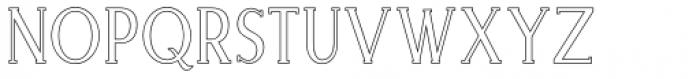 Merova Outline Font LOWERCASE