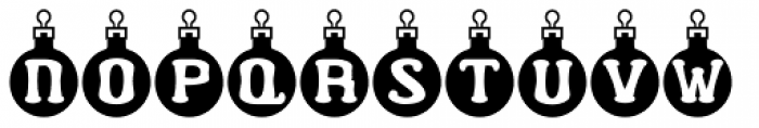 Merry Bauble Letters Font UPPERCASE
