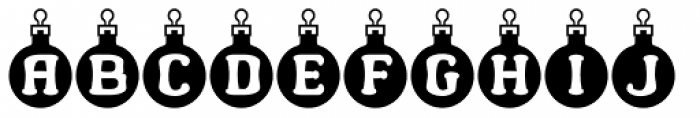 Merry Bauble Letters Font LOWERCASE