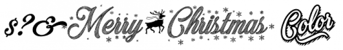 Merry Christmas Color Font OTHER CHARS