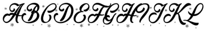 Merry Christmas Flake Font UPPERCASE