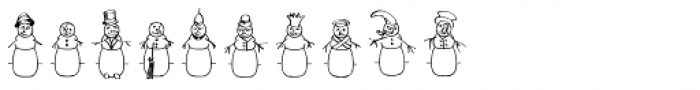 Merry Snowmen Font OTHER CHARS