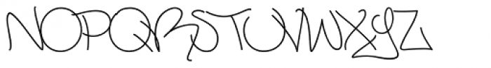 Mesh One AOK Light Regular Font UPPERCASE