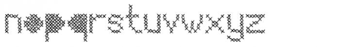 Mesh Stitch Font LOWERCASE