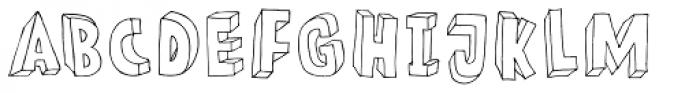 Meshuggeneh Font UPPERCASE