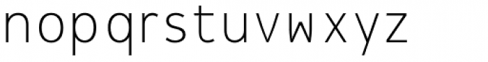 Message Thin Font LOWERCASE