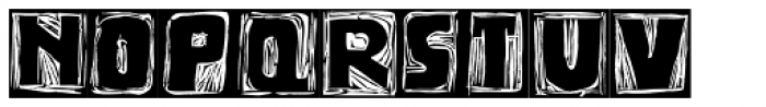 Messy Linocut 2D Dark Font LOWERCASE