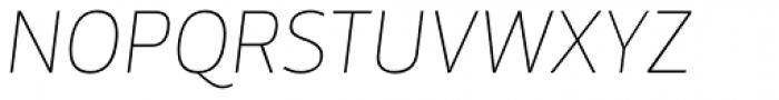 Mestre Hairline Italic Font UPPERCASE
