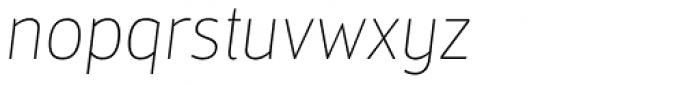 Mestre Hairline Italic Font LOWERCASE