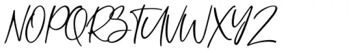 Metal Pen Regular Font UPPERCASE