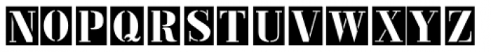 Metal Stencil JNL Font UPPERCASE