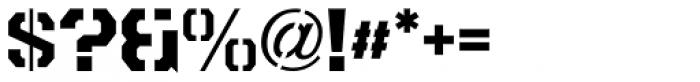 Metalmark Stencil JNL Font OTHER CHARS