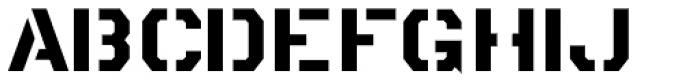 Metalmark Stencil JNL Font LOWERCASE