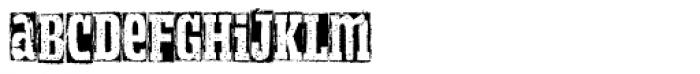 Meteora Bold Font LOWERCASE