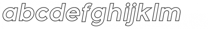 Meticula Outline Italic Font LOWERCASE