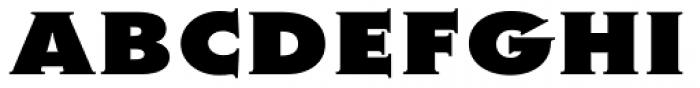 Metra Serif Xtra Bold Caps Font UPPERCASE