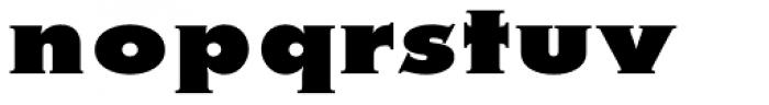Metra Serif Xtra Bold Font LOWERCASE
