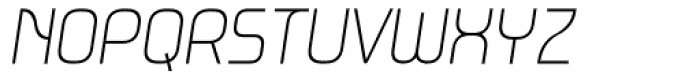 Metrica Thin Italic Font UPPERCASE