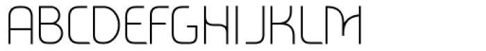 Metrica Thin Font UPPERCASE