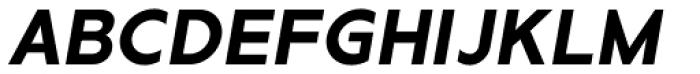 Metrisch Bold Italic Font UPPERCASE