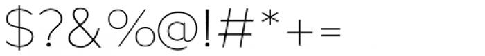 Metrisch ExtraLight Font OTHER CHARS