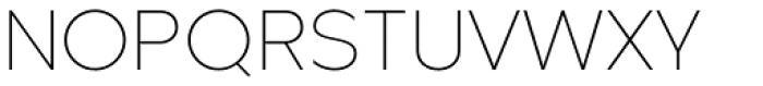 Metrisch ExtraLight Font UPPERCASE