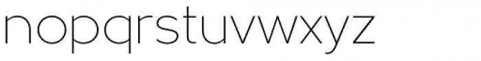 Metrisch ExtraLight Font LOWERCASE