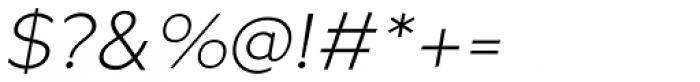 Metrisch Light Italic Font OTHER CHARS
