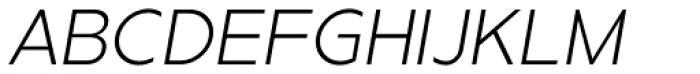 Metrisch Light Italic Font UPPERCASE