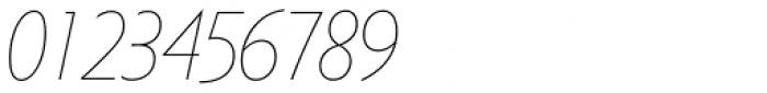 Metro Nova Pro Cond Thin Italic Font OTHER CHARS