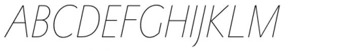 Metro Nova Pro Cond Thin Italic Font UPPERCASE