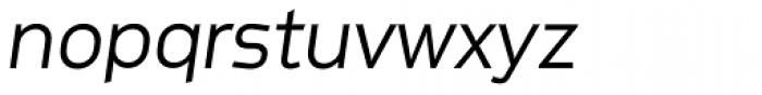 Metroflex Wide Light Obl Font LOWERCASE