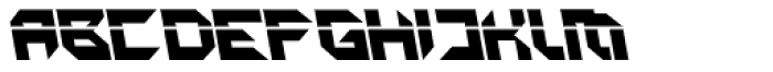 Metron Closed A Italic Font UPPERCASE