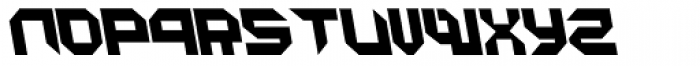 Metron Closed A Italic Font LOWERCASE