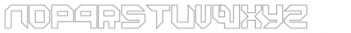 Metron Closed Outline Font LOWERCASE