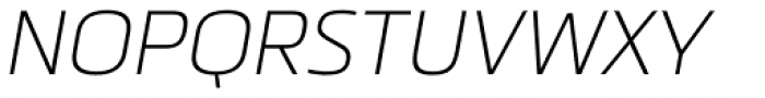 Metronic Pro Air Italic Font UPPERCASE