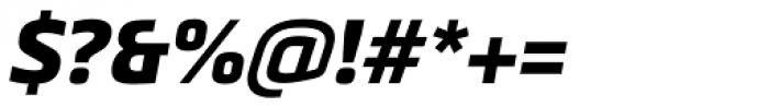 Metronic Pro Black Italic Font OTHER CHARS