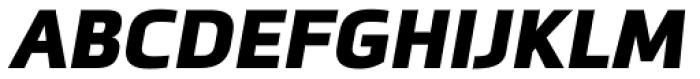 Metronic Pro Black Italic Font UPPERCASE