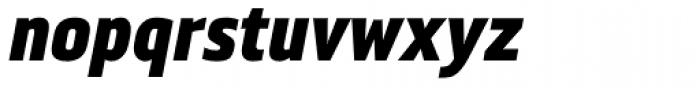Metronic Pro Cond Black Italic Font LOWERCASE