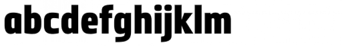 Metronic Pro Cond Black Font LOWERCASE