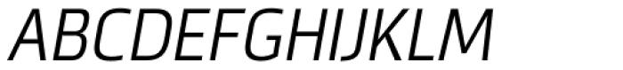 Metronic Pro Cond Light Italic Font UPPERCASE