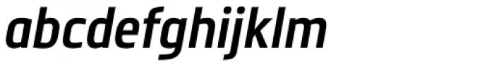 Metronic Pro Cond SemiBold Italic Font LOWERCASE