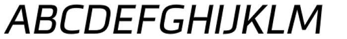 Metronic Pro Italic Font UPPERCASE
