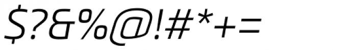 Metronic Pro Light Italic Font OTHER CHARS